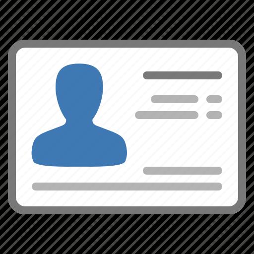 business, card, identity, personal, premium icon