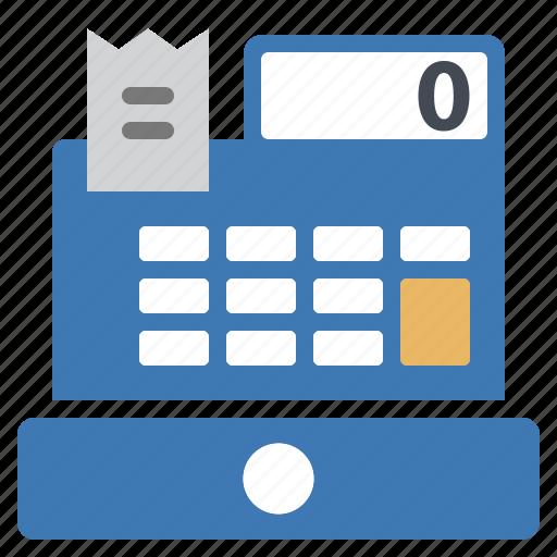 cash, money, profits, register, ticket icon