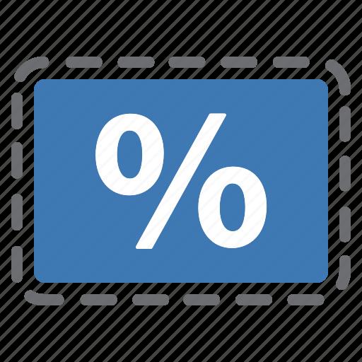 blue, coupon, deal, percentage, sale icon