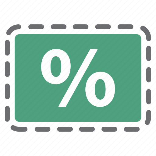 coupon, deal, discount, green, offer, percentage, sale icon