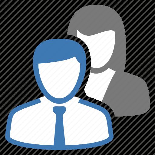 employees, man, office, people, woman, work, workforce icon