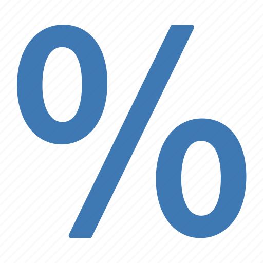 blue, deal, discount, offer, percentage, sale icon