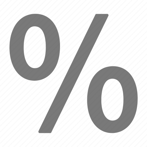 deal, discount, grey, offer, percentage, sale icon