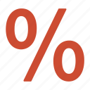deal, discount, offer, percentage, red, sale icon