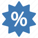 amazing, blue, deal, discount, offer, percentage, sale icon