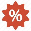 amazing, deal, discount, offer, percentage, red, sale icon