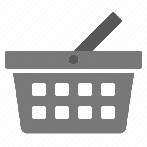 basket, buy, cart, grey, items, products, shopping icon