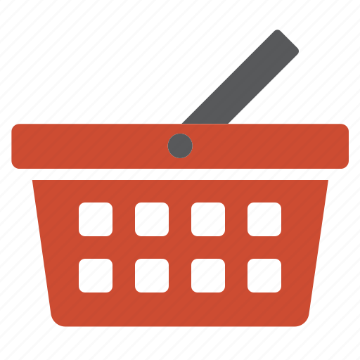 basket, buy, cart, items, products, red, shopping icon