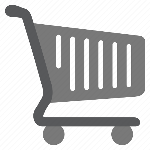 buy, cart, grey, items, products, shopping icon