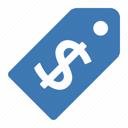 blue, dollar, money, price, tag icon