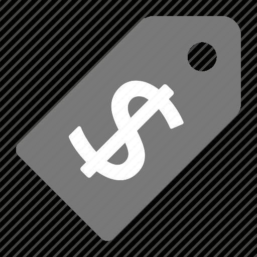 dollar, gray, grey, price, shopping, tag, ticket icon