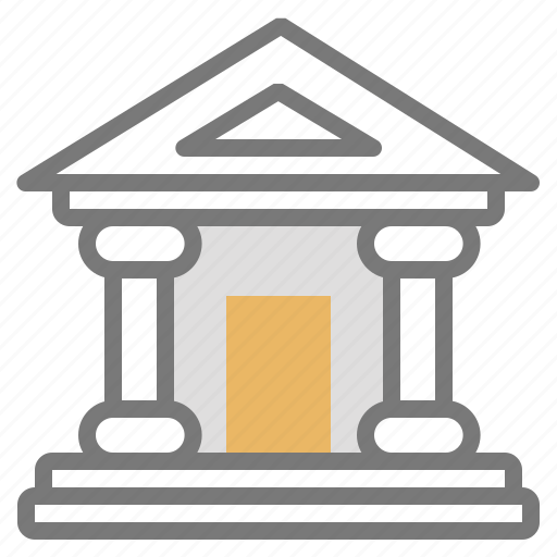 bank, building, institution icon