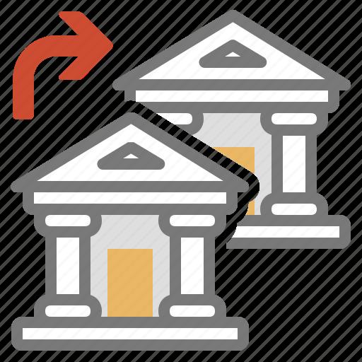 bank, money, transfer icon