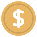 cash, currency, dollar, logo, money, united-states icon