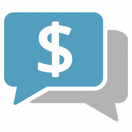cash, dialogue, discussion, dollar, money, negotiation, remuneration icon