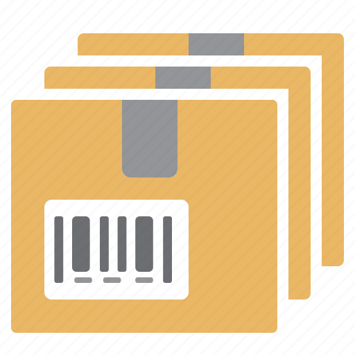 boxes, delivery, packages, products, references icon