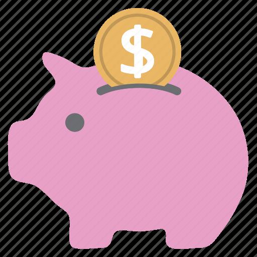bank, coin, money, piggy, piggy bank, pink, savings icon