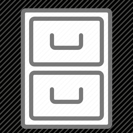 cabinet, drawer, storage icon