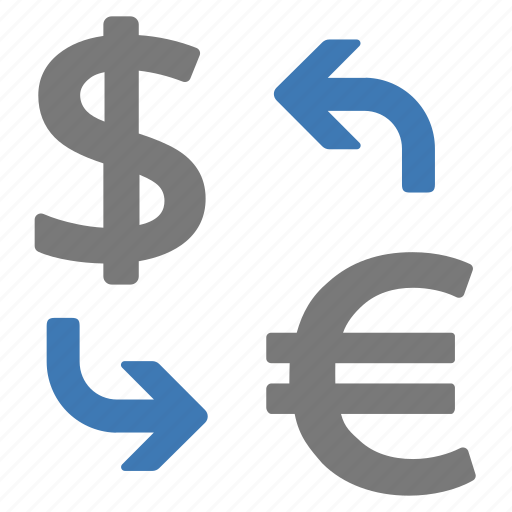 currency, dollar to euro, euro to dollar, exchange, money icon