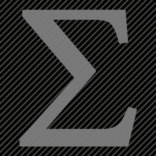 greek, mathematic, sum icon