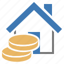 assets, house, money icon