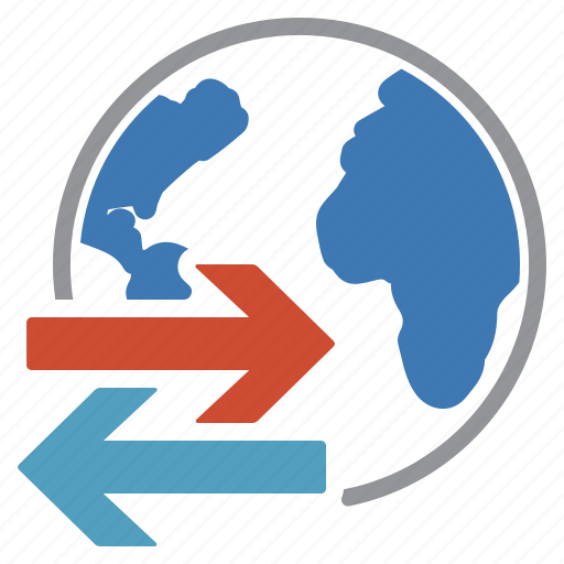 earth, export, import, world icon