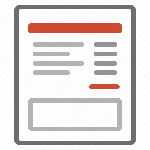invoice, sheet icon