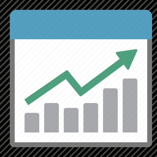 chart, evolution, report, summary icon