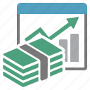 assets, capital, evolution, money, performance, report, summary icon