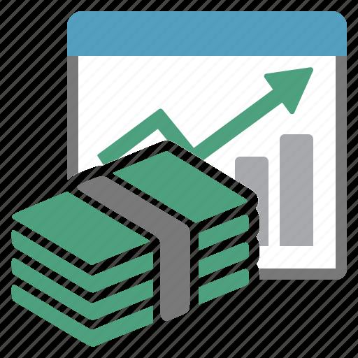 assets, capital, evolution, money, performance, report, summary icon