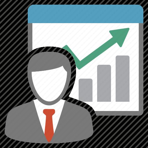 chart, evolution, performance, report, vendor icon