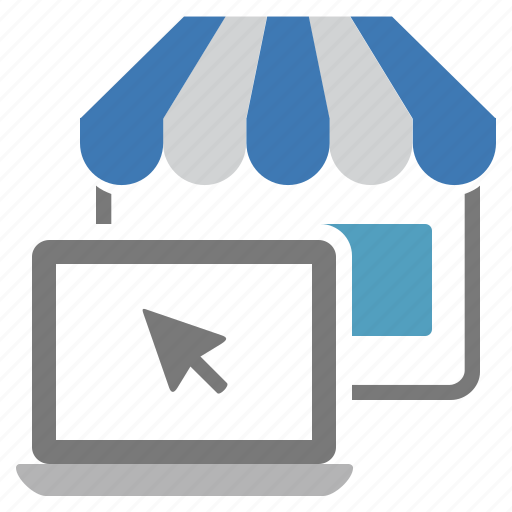 connected, internet, market place online, online, store icon