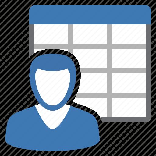 customer, sheet, table icon