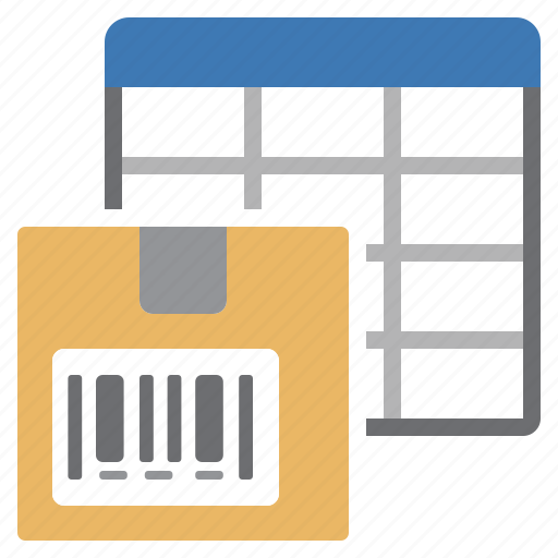 product, sheet, table icon