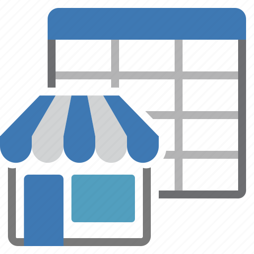 market place, sheet, store, table icon