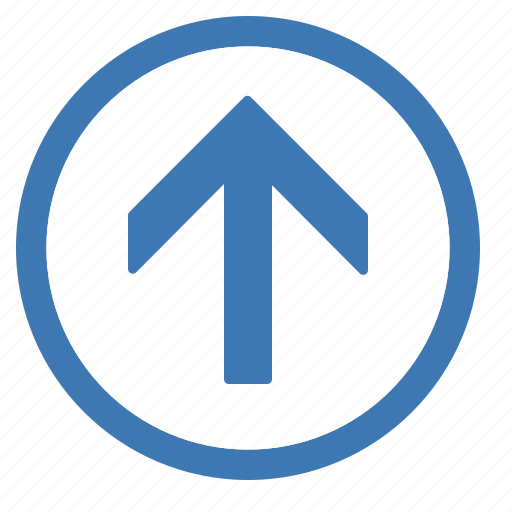 browse, circle, up icon