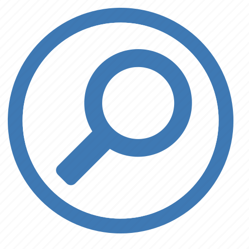 circle, find, glass, look for, magnifying, search icon