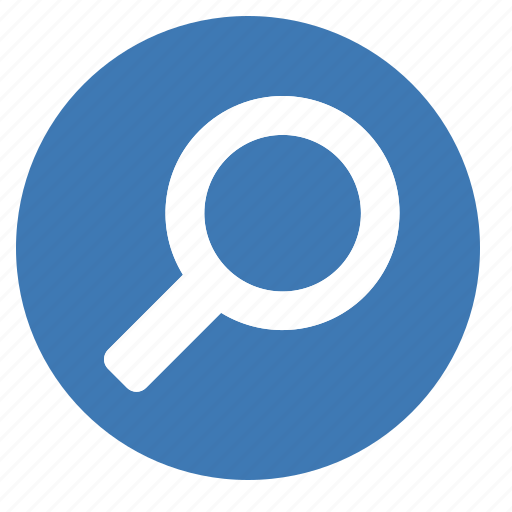 filledcircle, find, glass, look for, magnifying, search icon