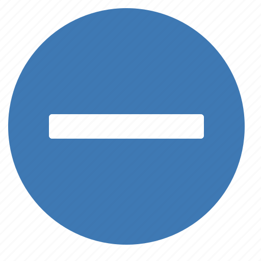 delete, filledcircle, minus, remove icon