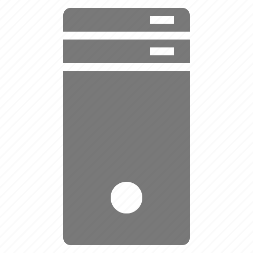 dedicated, electronics, server icon