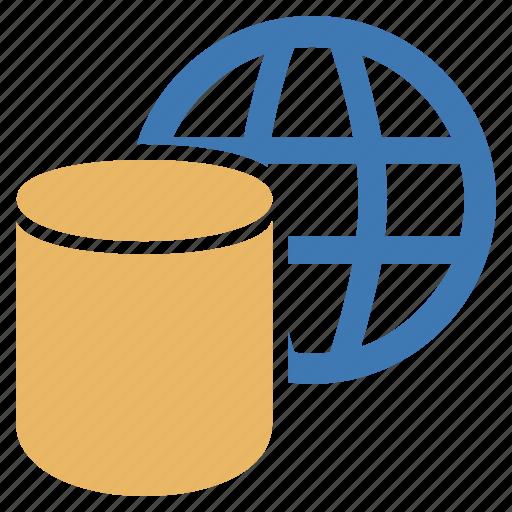 big, data, database, information, world icon