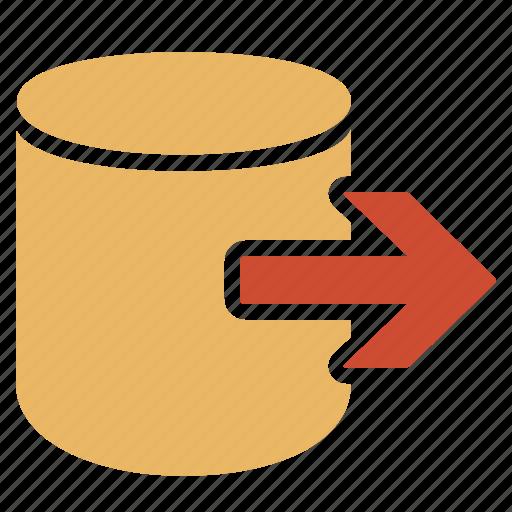 data, database, export, information, storage icon