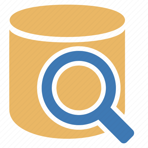 data, database, glass, information, look for, magnifying icon
