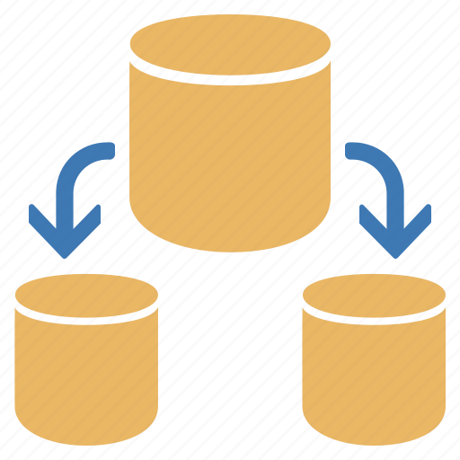 database, databases, into, several, split icon