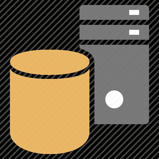 computer, data, database, dedicated, network, server, technology icon