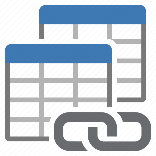 business, datasheets, dependencies, documents, links, tables icon