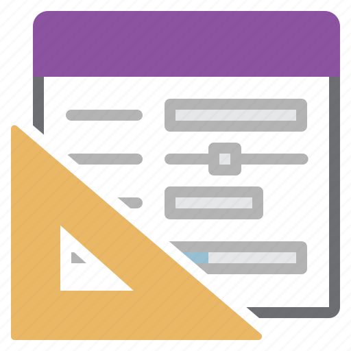 design, document, drawing, form, square ruler icon
