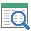 find, glass, look for, magnifying, query, search icon