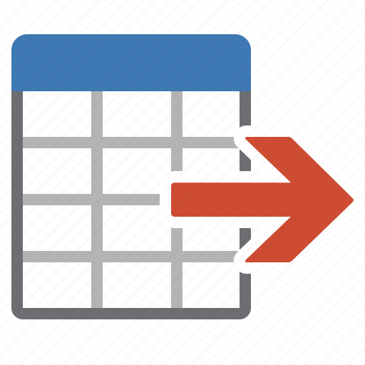 data, export, information, table icon