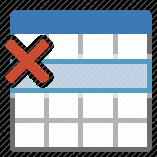 delete, line, remove, selection, table icon